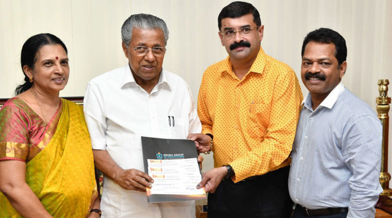 Nehru Group of Institutions donates 25 lakhs to Kerala CM's Relief Fund