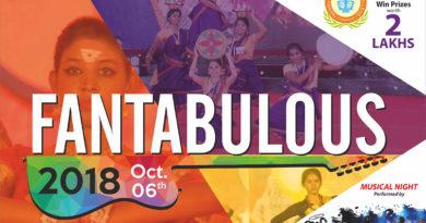 Fantabulous 2018 – An Intercollegiate College Fiesta – Win Prizes Worth 2 Lakhs