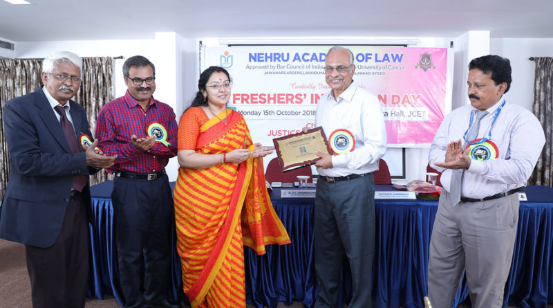 NEHRU ACADEMY OF LAW – INDUCTION PROGRAMME -2018