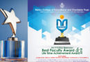 Shri P K Das Memorial Best Faculty Award | Life Time Achievement Award