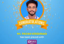 Placement – Mr Pavan Krishnan, Electrical and Electronics Engineering – CTC 10Lakhs/Annum